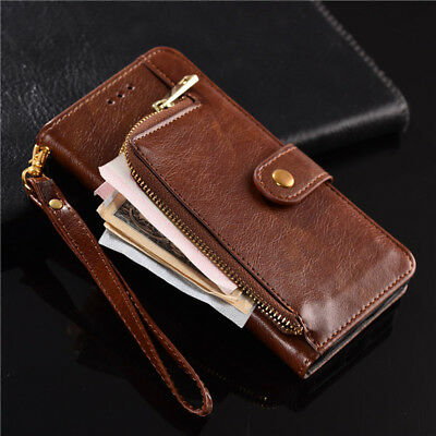 Luxury Zipper wallet Flip Phone Bag PU Leather Case For Samsung A5 A6 A7 A8 2018