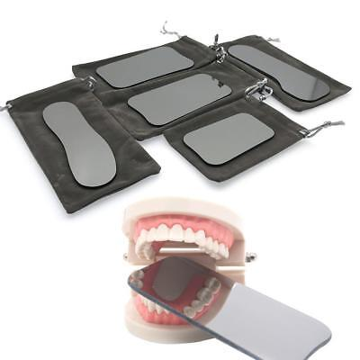 5pcs Dental Photographic Mirror Intraoral Orthodontic 2-sided Rhodium Reflect