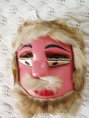 vintage Mexican dance mask small old man Tejorones Oaxaca