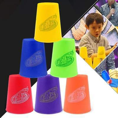 6 PCS Mixed Colors Quick Stack Cup II Speed Training Sports Stacking Cups