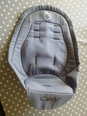 iCandy Peach Black Jack Main Seat Liner In Grey With Zip