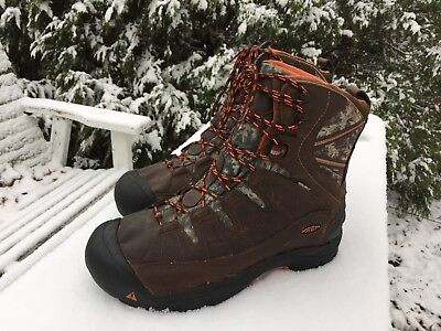 86fe15a6ca9 Keen Summit County Waterproof Winter Camo Brown Leather 450/300g Boots Men's  14