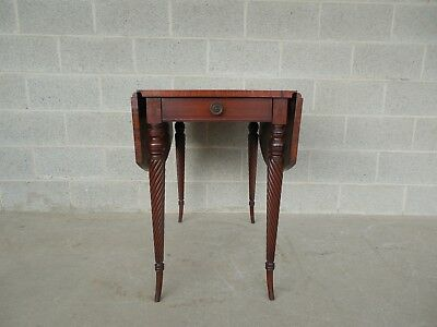 COLONIAL Furniture Mahogany 1 Drawer Drop Side Entry/Hall Occasional Table