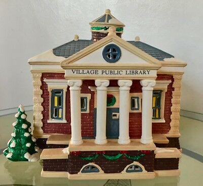 Department 56 The Original Snow Village Public Library Lighted Building #5443-7