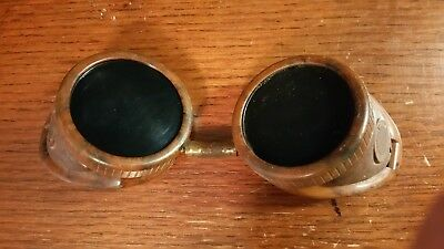 Vintage Bakelite Welding Cutting Goggles Glasses ~ Steam Punk Glasses