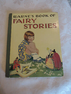 vintage 1930's English picture book Warne's Book of Fairy Stories, to Margaret