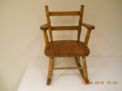 Small Antique  Doll/childs Rocking Chair