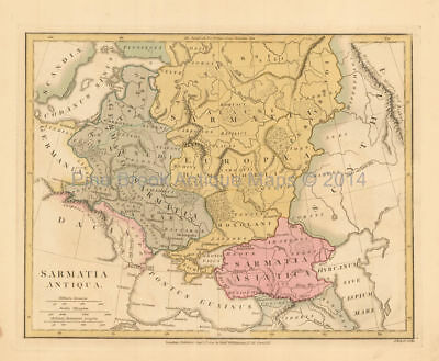 Ancient Eastern Europe Antique Map Wilkinson 1815 Original