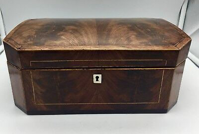 Antique Georgian Mahogany Inlaid Box circa 1800