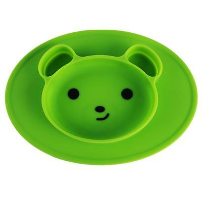 Cute Bear Silicone Mat Baby Kids Child Suction Table Food Tray Placemat Plate Q