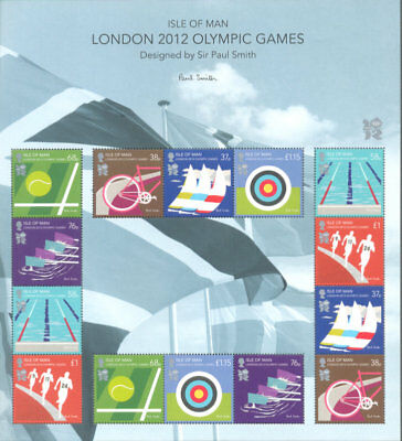 Olympic Games-2012 London Special sheet Isle of Man- mnh