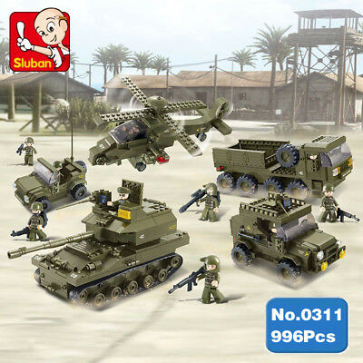 Sluban B0205 Special Force Army Giant Attack Tank Vehicle Building Blocks Toy