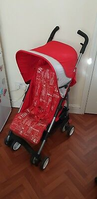MOTHERCARE MINO Lightweight Pushchair + Rain Cover / Red