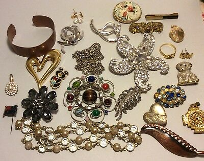 Job Lot Of Mainly Vintage  Costume Jewelery Including Monet And Triffari