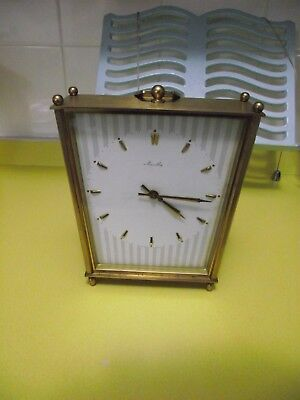 Mauthe Brass Vintage German Mantle Clock with Ting Tang Strike