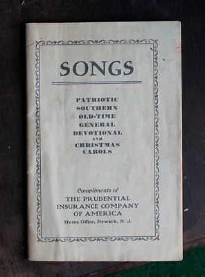 1934 PRUDENTIAL INSURANCY COMPANY Song Booklet SOUTHERN BLACK controversial OLD