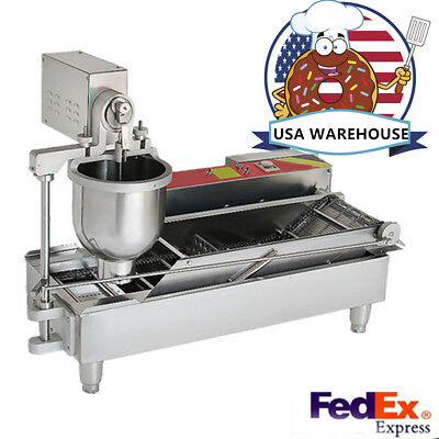 US SHIP Automatic Commercial Donut Fryer maker Making Machine Donut Robot 2019