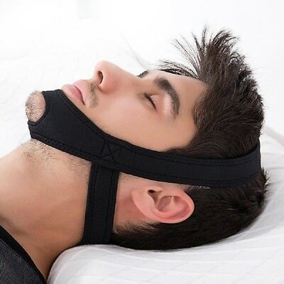 TMJ Snore Stop Belt Anti Snoring Chin Strap Sleep Apnea Jaw Solution UK Stocks