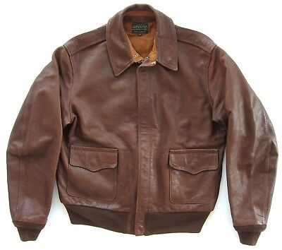 WWII A-2 ROUGH WEAR 1401-P GOOD WEAR LEATHER REPRODUCTION FLYING JACKET sz 42