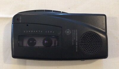 GE Micro Cassette Recorder 3-5379B Hand Held Battery Operated Black