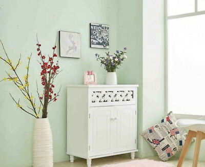 White Shabby Chic Cabinet Cupboard Storage Unit French Vintage Style Furniture