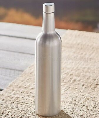 Vacuum-Insulated Stainless Steel Wine Bottle - Silver