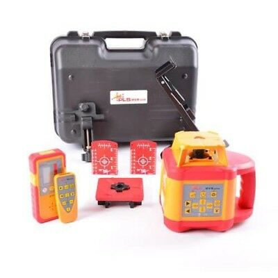 Pls Topcon Hvr505 Red Beam Rotary Laser Level With Tripod & Staff