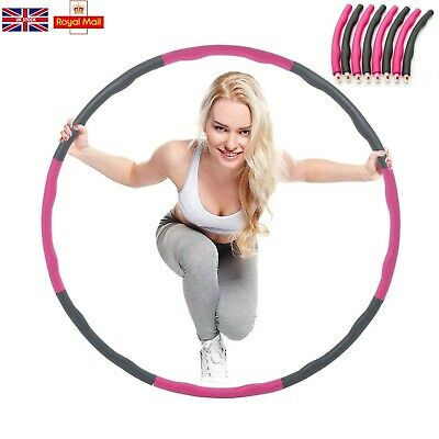 1KG Collapsible Weighted Hula Hoop Fitness Padded Exercise Gym Workout Hoop