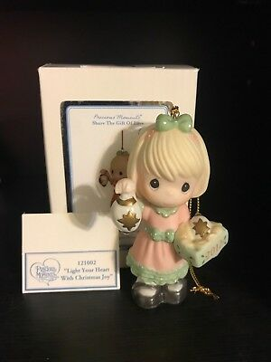 Precious Moments Light Your Heart With Christmas Joy Ornament MIB 2012