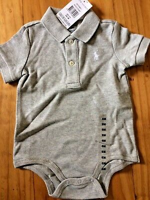 Ralph Lauren Polo Baby Grow Romper 6 Months Body Grey New With Tags BNWT gift