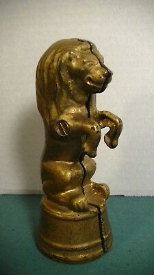 LION ON TUB SMALL CAST IRON BANK, A.C. WILLIAMS EARLY 20TH C.  lot# 313