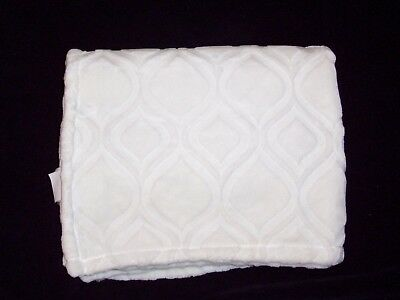 Little Miracles Cream Ecru Off White Cuddle Up Baby Blanket Soft Plush No Lamb