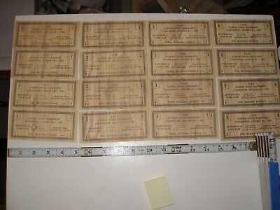 Advertising 1959 Florida United Numismatic Convention Wooden Nickel Coupons