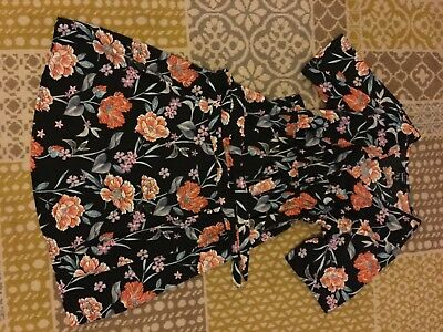 New Look Size 8 Black Floral Dress Maternity