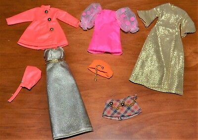 """Palitoy Pippa Doll Clothes Clothing Tlc Lot Topper Dawn 6"""" Vintage 70's 4 Items"""