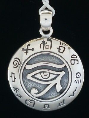 Eye of Horus with Zodiac Sterling Silver Pendant by Peter Stone Fine Jewelry