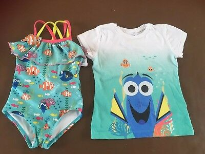 Disney Store Finding Dory Girls Tshirt Swimming Costume Age 2 3