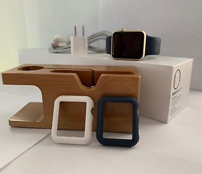 Apple Watch Series 0/1st Generation 42mm Gold-Includes Charging Stand and Cases