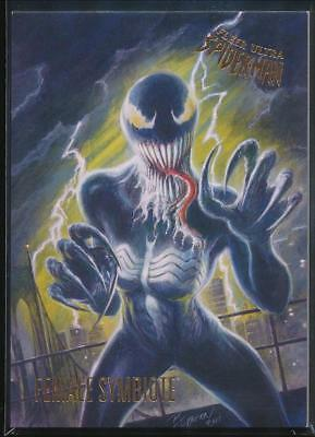 2017 Fleer Ultra Spider-Man Trading Card #55 Female Symbiote