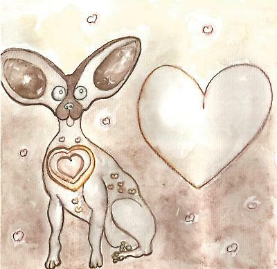 CHIHUAHUA ART PAINTING cute doggie gifts for dog lovers chihuahuas small dogs