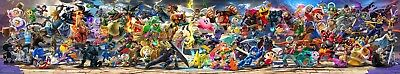 "Super Smash Bros Ultimate Poster 130x24"" 108x20"" Final Updated Banner Print Silk"