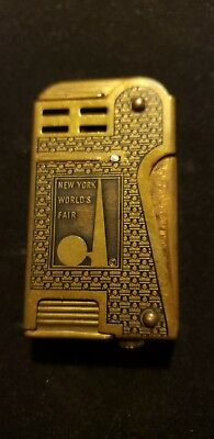 1939 New York worlds fair BRASS lighter Rare