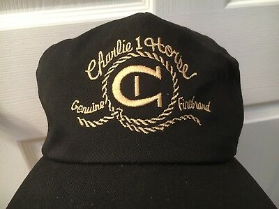 Nos Vintage Charlie 1 One Horse Hat Company Embroidered Strapback Cap Hat Usa
