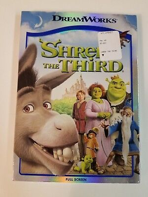 SHREK THE THIRD(DVD, 2007, Full Screen Version) SEALED