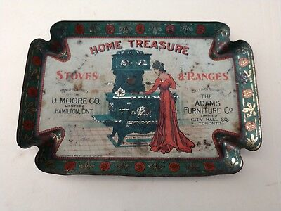 Home Treasure Stoves & Ranges Advertising Tip Tray Canada Great Graphic