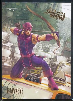 2017 Fleer Ultra Spider-Man Trading Card #86 Hawkeye