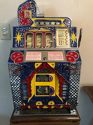 ORIGINAL 1931 25¢ Mills SILENT FOK Antique Slot Machine :coin op: