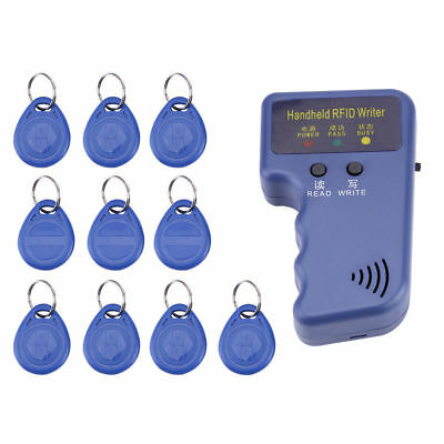 125KHz Handheld RFID Writer/ Copier/ Reader/ Duplicators With 10PCS ID Tags
