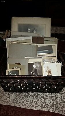 Huge Lot of 96 Antique Vintage Cabinet Cards, and Post Cards some Art Deco
