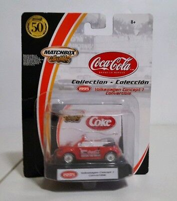 Matchbox Coca-Cola Collection 1995 Volkswagen Concept 1 Convertible 1/64th